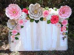 Homemade Paper Flower Decorations Easy Paper Flower Backdrop Assembly Top Blogs Pinterest Viral