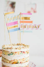 Washi Tape Bamboo Skewers The Cutest Customizable Cake Toppers