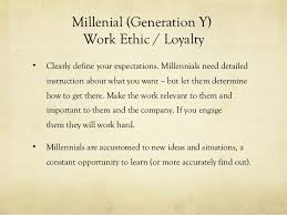 Generation Y Work Ethic Managing The Generation Gaps