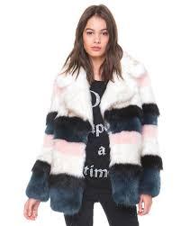 lyst boohoo layla faux fur coat in gray