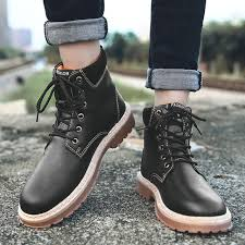boots fashion men ankle boots winter men motorcycle boots male oxfords shoes leather boots mens casual