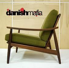 mid century danish modern teak lounge chair