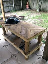 diy grill station build your own barbecue grill table diy outdoor grill station