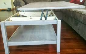 rising coffee table awesome ana white lift top diy projects pertaining to 19
