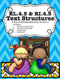Rl4 5 Ri4 5 Text Structure Chart And Test Common Core Tn Ready Aligned