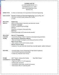 Electrical Engineer Sample Resume Marine Electrical Engineer Sample