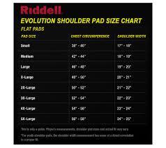 Riddell Football Shoulder Pads Size Chart Riddell Evolution Shoulder Pads Review