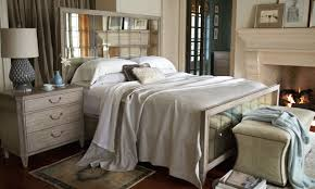 Mirrored Bedroom Set Marquesa Mirrored Panel Bedroom Set In Gray Cashmere Finish
