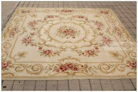 awesome 7x7 square antique french decor aubusson area rug pastel country in 7x7 area rugs attractive