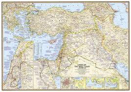 Lands Of The Bible Wall Map Tubed National Geographic