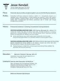 Home Health Aide Resume Resume For Cna Certified Nursing