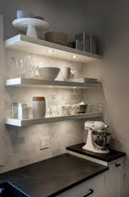 under shelf lighting ikea. white kitchen floating shelves marble subway tile soapstone counter under shelf lights lighting ikea