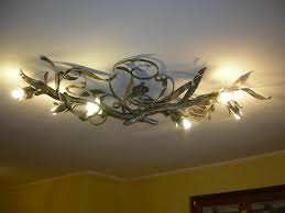image of wrought iron ceiling light fixtures