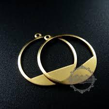 6pcs 20mm raw brass hollow round pendant charm diy earrings chandelier jewelry findings 1800163