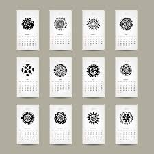 Simple 2015 Calendar Simple 2015 Calendar Cards Vector Graphics 02 Free Download