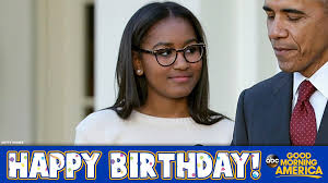 Image result for happy birthday to malia obama