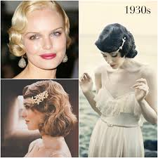 1930s vine wedding hairstyles by percy handmade