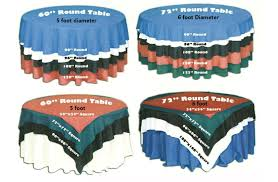 table size guide seating numbers and tablecloth sizes be event furniture hire