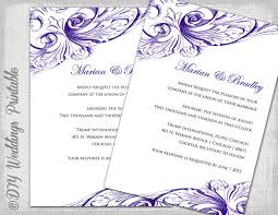 Free Downloadable Wedding Invitation Templates Wedding invitation template Eggplant DIY wedding invitations 20