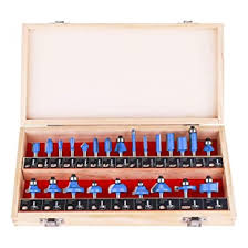 KOWOOD Router Bits Sets of 24A Pieces <b>1</b>/<b>4 Inch Shank</b> Router Bit ...