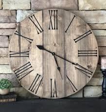 36 farmhouse clock oversized clock wood
