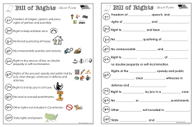 Bill Of Rights Worksheet Free Worksheets Library | Download and ...