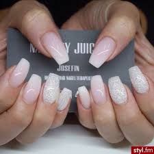 Ombré Coffin Nails With Glitter Nails Nails Ballerina Nails