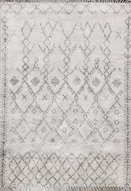 rugsville moroccan beni ouarain grey 12191 5x8 wool rug 12191 58