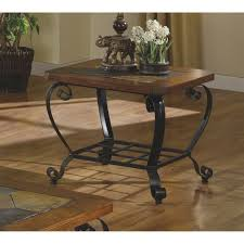 holiday and big anthony california square anthony california brown wood metal coffee table 804mc