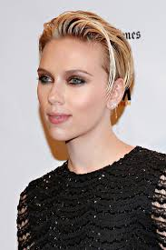 Freche Kurzhaarfrisuren Damen Stars Nat Rlich Blond Scarlett Johansson