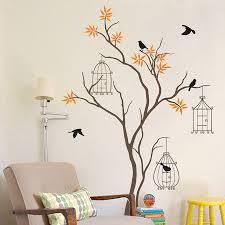 Contemporary Handmade Bird Cage Wall Art Painted Living Room Decoration  Business Interior Design High Quality Enchanting Atmosphere