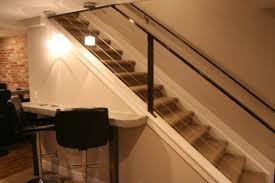 basement stairs. basement stairs railing cabel