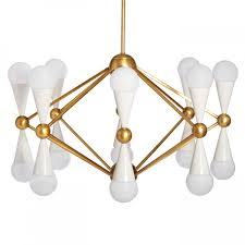 jonathan adler caracas 16 light chandelier ivory new