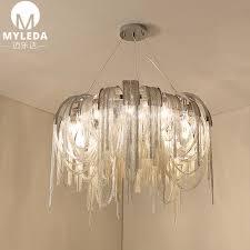 china postmodern lighting tassel aluminum chain chandelier for hotel lobby china aluminum chandelier postmodern lighting