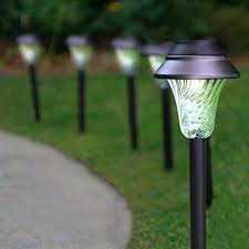 enchanted spaces solar path light set of 6 bronze lights hampton bay led pathway finish