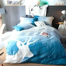 queen size bed cover deer print light blue bedding sets queen size cotton print flat bed sheets