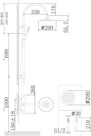 porto thermostatic bar shower with kit a3512 658 00 fitting instructions