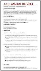 Language Skills Resume Language Skills Resume Sample Resume With