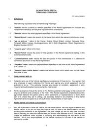Trailer Rental Agreement Template Forms - Fillable & Printable ...