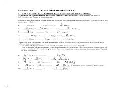 chemistry unit 6 worksheet 1 answer key great balancing chemical equations worksheets with answers reactions wor