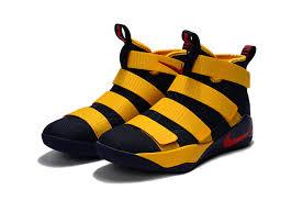 lebron shoes 2017 kids. sale lebron soldier 11 kids yellow black shoes lebron 2017