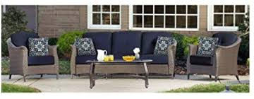 everyone will find a place to sit with this conversation set and lovely coffee table