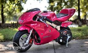 pocket bike mini motorcycle 4 stroke gas power go bowen pink