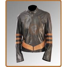 hugh jackman origins wolverine brown leather jacket men s leather jackets for