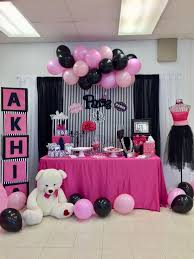 Birthday Party Pink Black Paris Chanel Theme In 2019