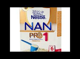 Nan Pro 1 Dosage Chart Nestle Nan Pro 1 Youtube