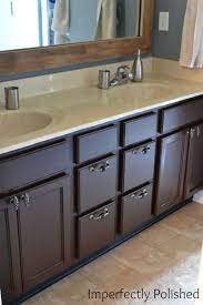 tutorial for staining bathroom cabinets