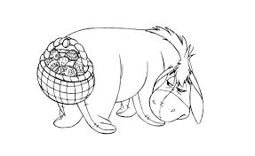 Holiday and seasonal coloring pages for kids. Free Winnie The Pooh Easter Coloring Pages