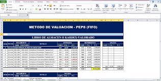 Inventario Excel Formatos En Excel De Metodos De Valoracion De Inventario