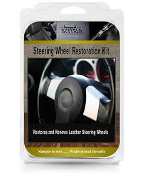 details about leather steering wheel restoration repair kit dye colour kit before after